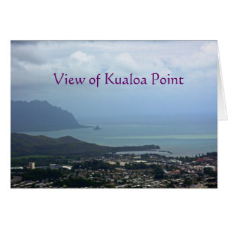 View of Kualoa Point card