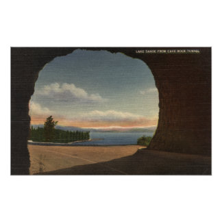 View of Lake from Cave Rock Tunnel Poster