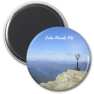 View of Lake Placid NY Round Magnet