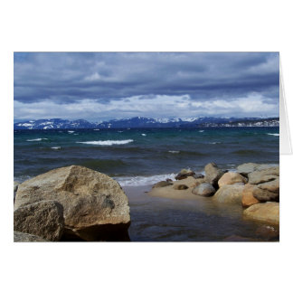 View of Lake Tahoe in Winter Greeting Card