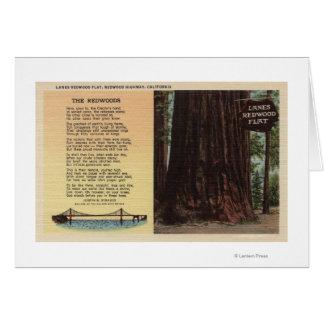 View of Lanes Redwood Flat Card