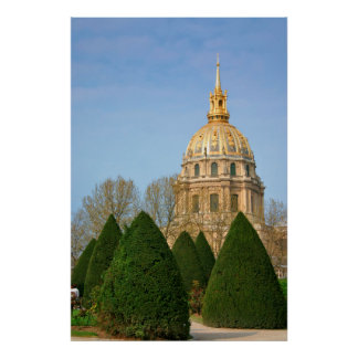 View Of Les Invalides Eglise Du Dome Print