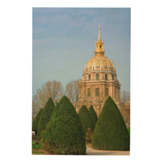 View Of Les Invalides Eglise Du Dome Wood Print