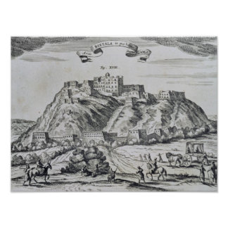 View of Lhasa, capital of Tibet Poster