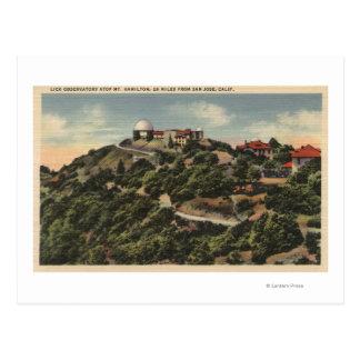 View of Lick Observatory on Mt. Hamilton Postcard
