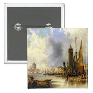 View of London with St. Paul's 15 Cm Square Badge