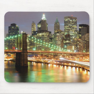 View of Lower Manhattan and the Brooklyn Bridge Mouse Pad