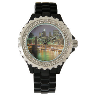 View of Lower Manhattan and the Brooklyn Bridge Wrist Watch