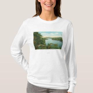View of Lower Saranac Lake from Bluff Island T-Shirt