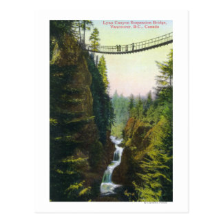 View of Lynn Canyon Suspension Bridge Postcard