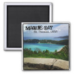 View of Magens Bay, St. Thomas, USVI Fridge Magnet