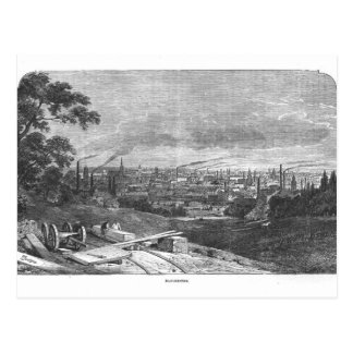 View of Manchester, engraved by T.Gustyne Postcard