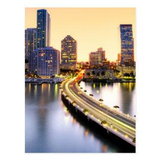View of Mandarin Oriental Miami with reflection Postcard