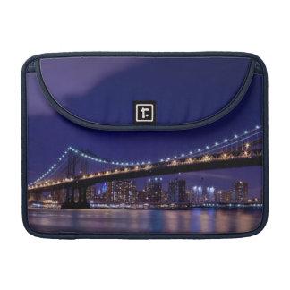 View of Manhattan bridge at night Sleeves For MacBooks