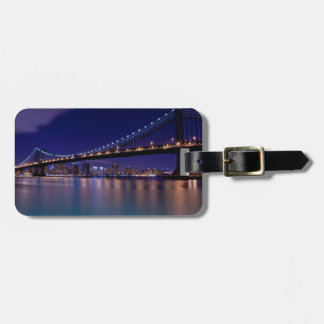 View of Manhattan bridge at night Tag For Luggage