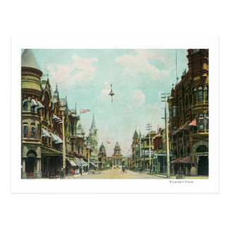 View of Mariposa Street Facing City Hall Postcard