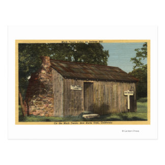 View of Mark Twain Cabin on Jackass Hill Postcard