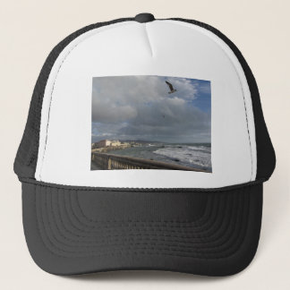 View of Mascagni terrace in a cloudy day Trucker Hat