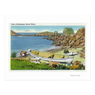 View of Monhegan Island, Beach Scene Postcard