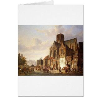 View of Montelspran by Cornelis Springer Greeting Card
