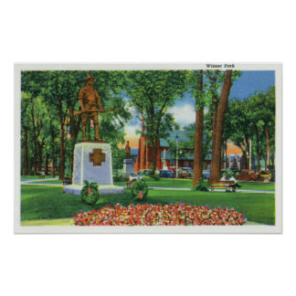 View of Monument at Wisner Park Poster