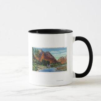 View of Mount Majestic and Angel's Landing Mug