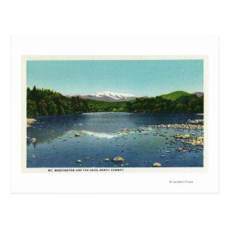 View of Mount Washington and the Saco Postcard