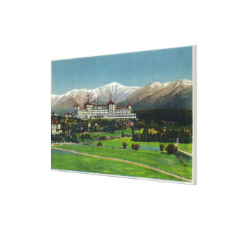 View of Mt Washington Hotel, Presidential Range Canvas Print