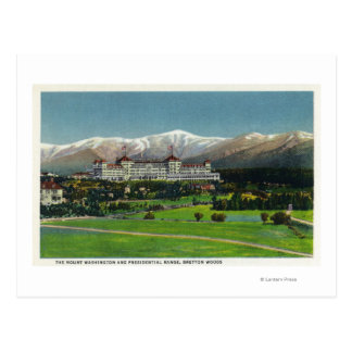 View of Mt Washington Hotel, Presidential Range Postcard