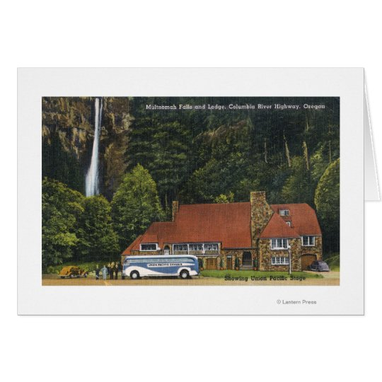 View of Multnomah Falls Lodge Card