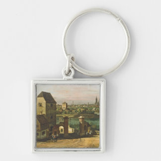 View of Munich, c. 1761 (oil on canvas) Keychains
