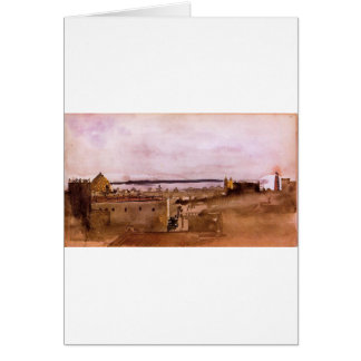 View of Naples by Edgar Degas Greeting Card