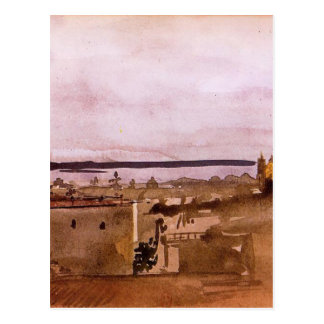 View of Naples by Edgar Degas Postcard