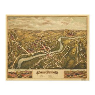 View of Naugatuck, Connecticut (1877) Canvas Prints