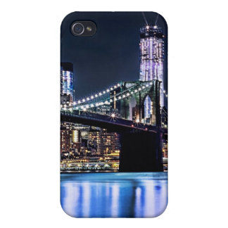 View of New York's Brooklyn bridge reflection iPhone 4/4S Cover