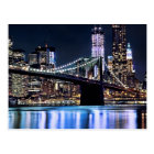 View of New York's Brooklyn bridge reflection Postcard