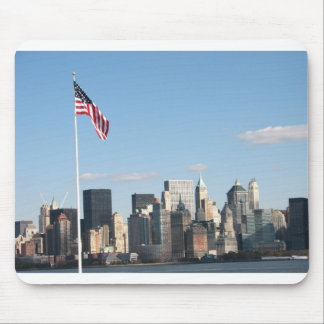 View of NYC from Ellis Island Mouse Pad