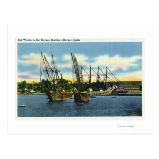 View of Old Shipwrecks in the Harbor Postcard