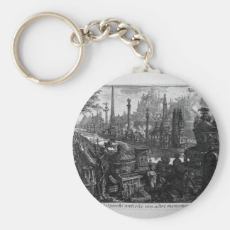 View of one of monuments in ancient Circus Giovann Basic Round Button Key Ring