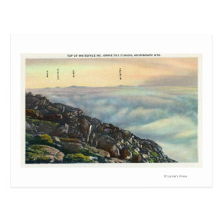 View of Other Adirondack Mts above the Clouds Postcard