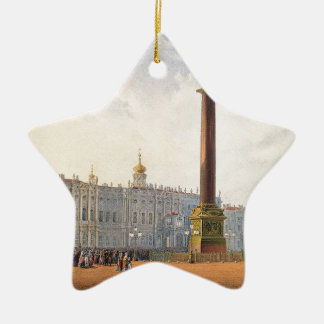 View of Palace Square and Winter Palace Ceramic Ornament