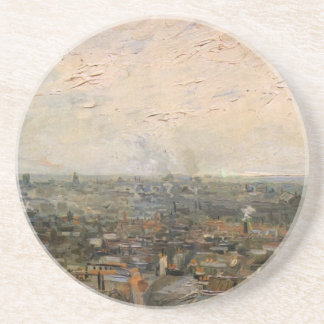 View of paris from Montmarte by Vincent van Gogh Beverage Coasters