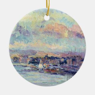 View of Paris oil on canvas Ornament