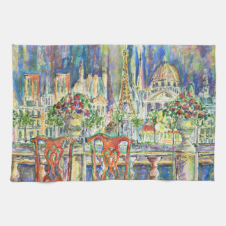 View of Paris Tea Towel