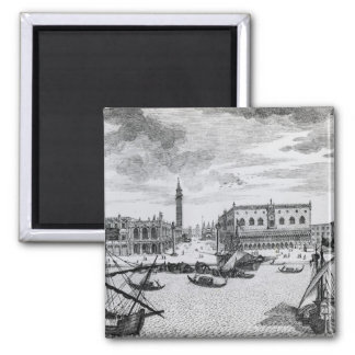 View of Piazza San Marco from the Bacino, Venice Square Magnet
