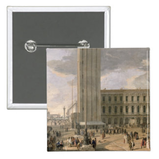 View of Piazza San Marco, Venice, c.1726 15 Cm Square Badge