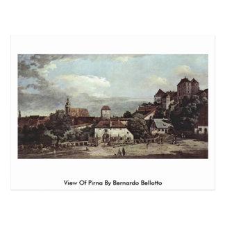 View Of Pirna By Bernardo Bellotto Postcard