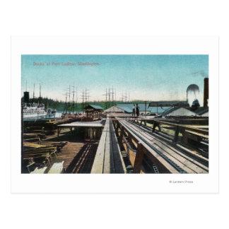 View of Port Ludlow DocksPort Ludlow, WA Postcard