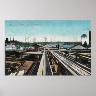 View of Port Ludlow DocksPort Ludlow, WA Posters