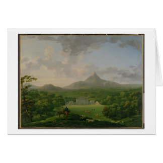 View of Powerscourt, County Wicklow, c.1760-2 (oil Greeting Card